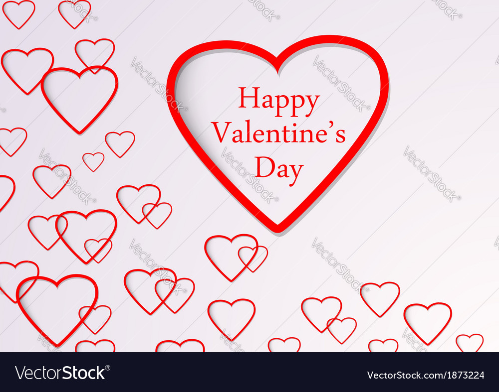 Valentine background with hearts flying vector | Price: 1 Credit (USD $1)