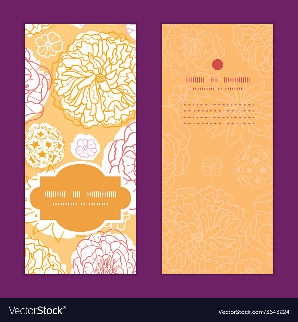 Warm day flowers vertical frame pattern invitation vector | Price: 1 Credit (USD $1)
