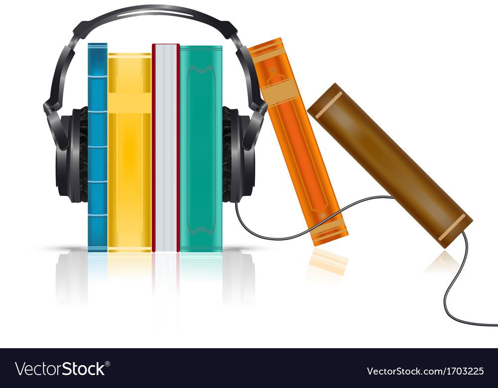 Audio books concept vector | Price: 1 Credit (USD $1)