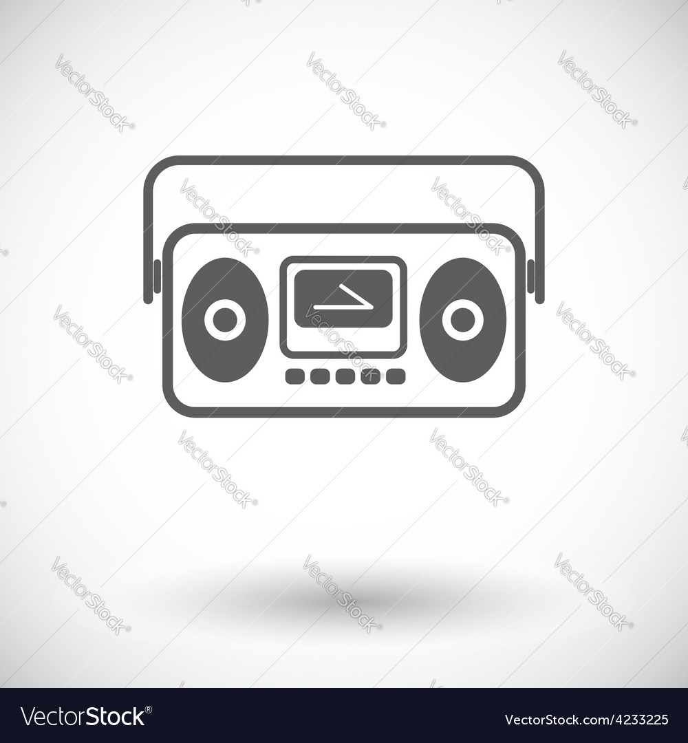 Boombox vector | Price: 1 Credit (USD $1)