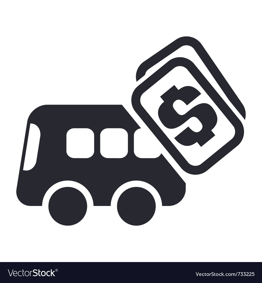 Bus cost icon vector | Price: 1 Credit (USD $1)