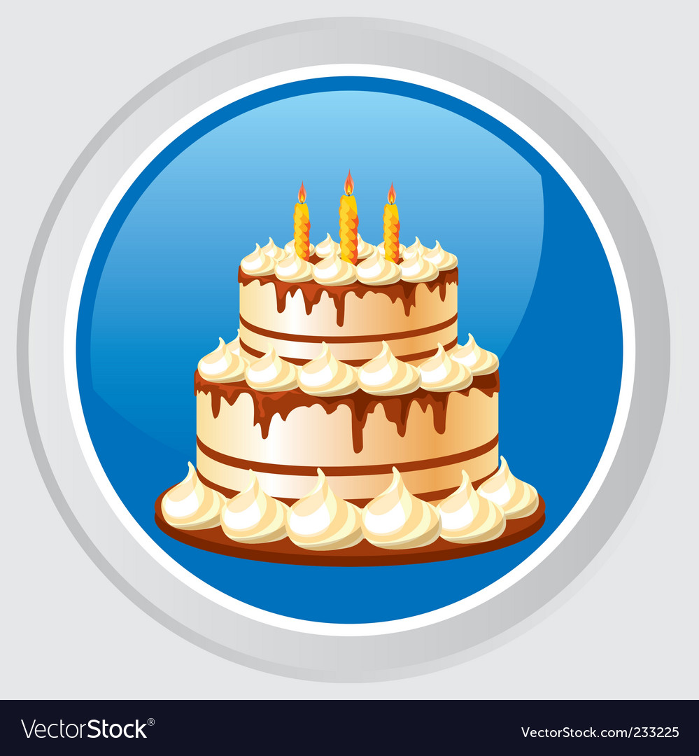 Cake icon vector | Price: 3 Credit (USD $3)