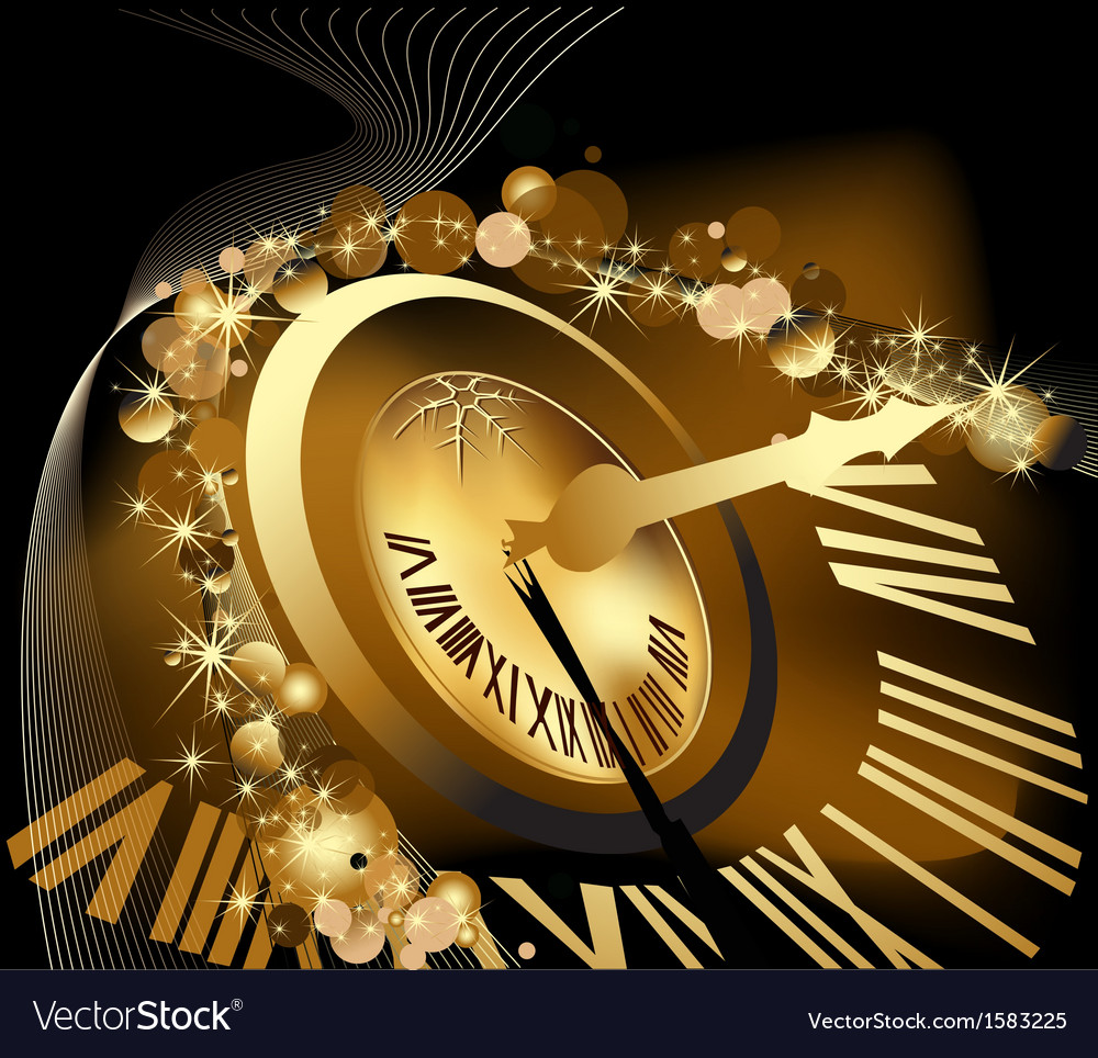Gold merry christmas and happy new year background vector