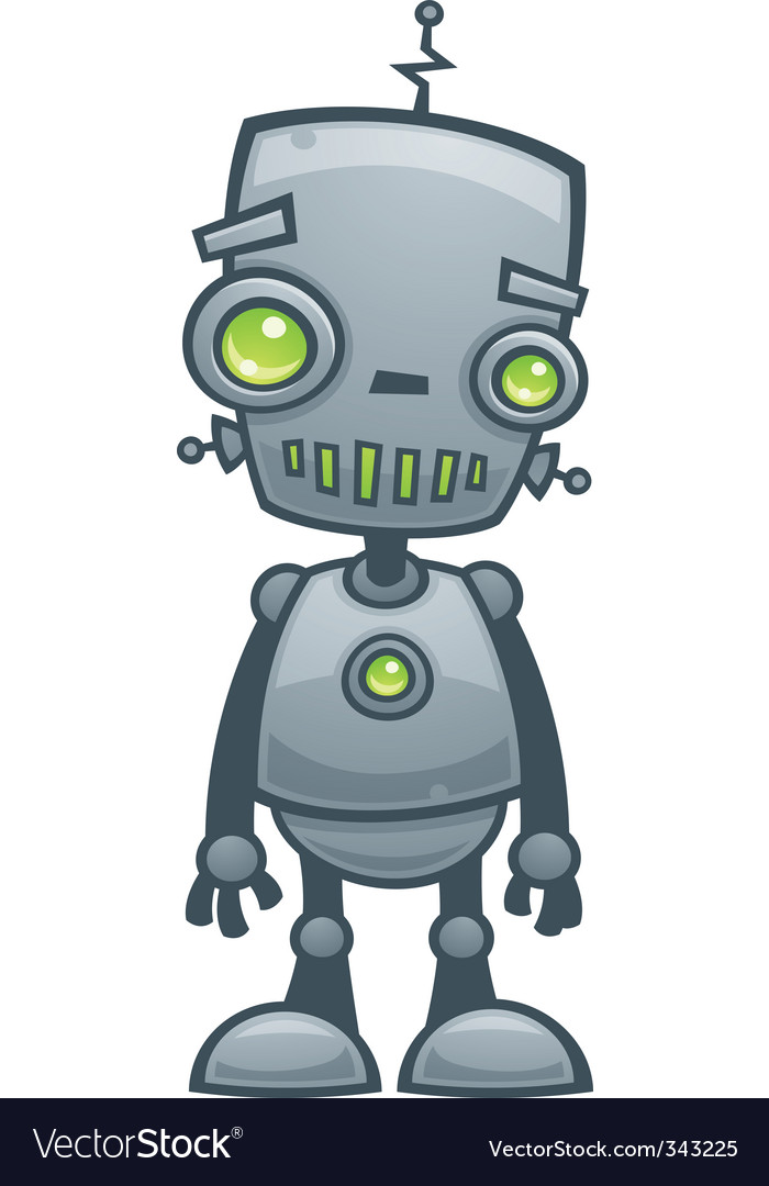 Happy robot vector | Price: 1 Credit (USD $1)