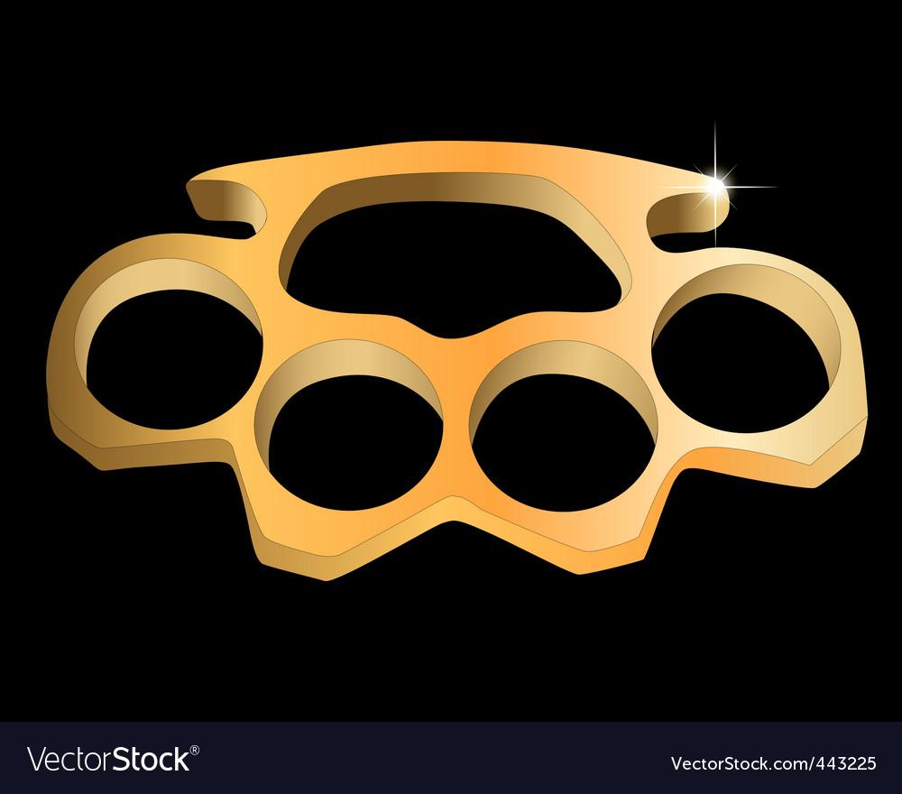 Metal knuckles vector | Price: 1 Credit (USD $1)