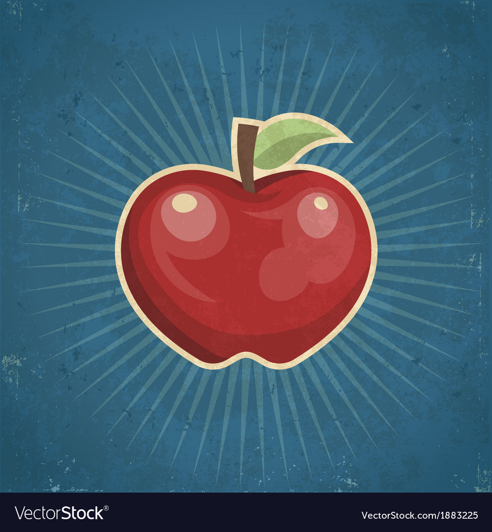 Retro apple vector | Price: 1 Credit (USD $1)