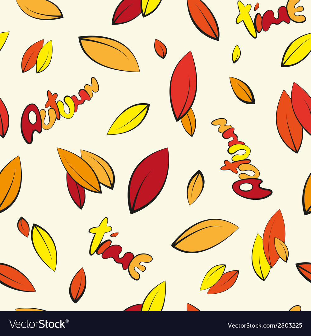Seamless autumn leaves vector | Price: 1 Credit (USD $1)
