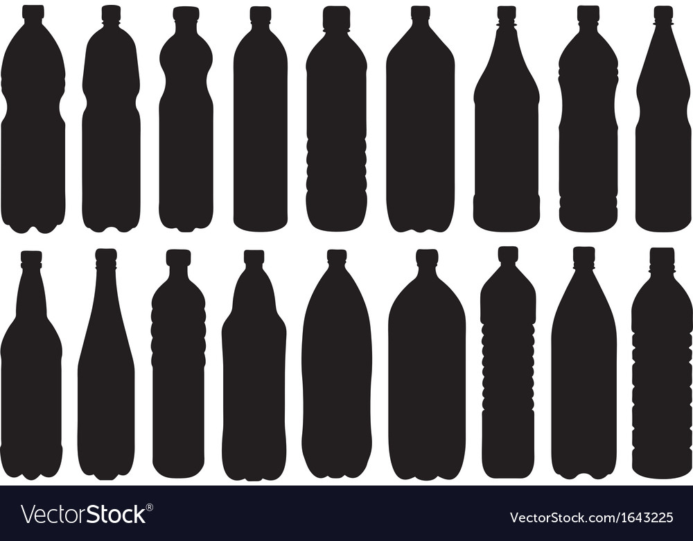 Set of different bottles vector | Price: 1 Credit (USD $1)
