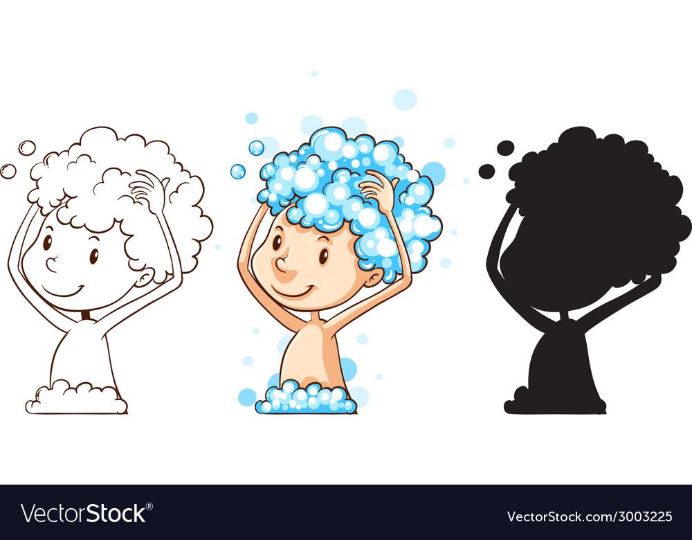 Washing hair vector   Price: 1 Credit (USD $1)