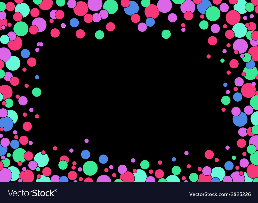 Abstracts rounded bubbles background vector | Price: 1 Credit (USD $1)