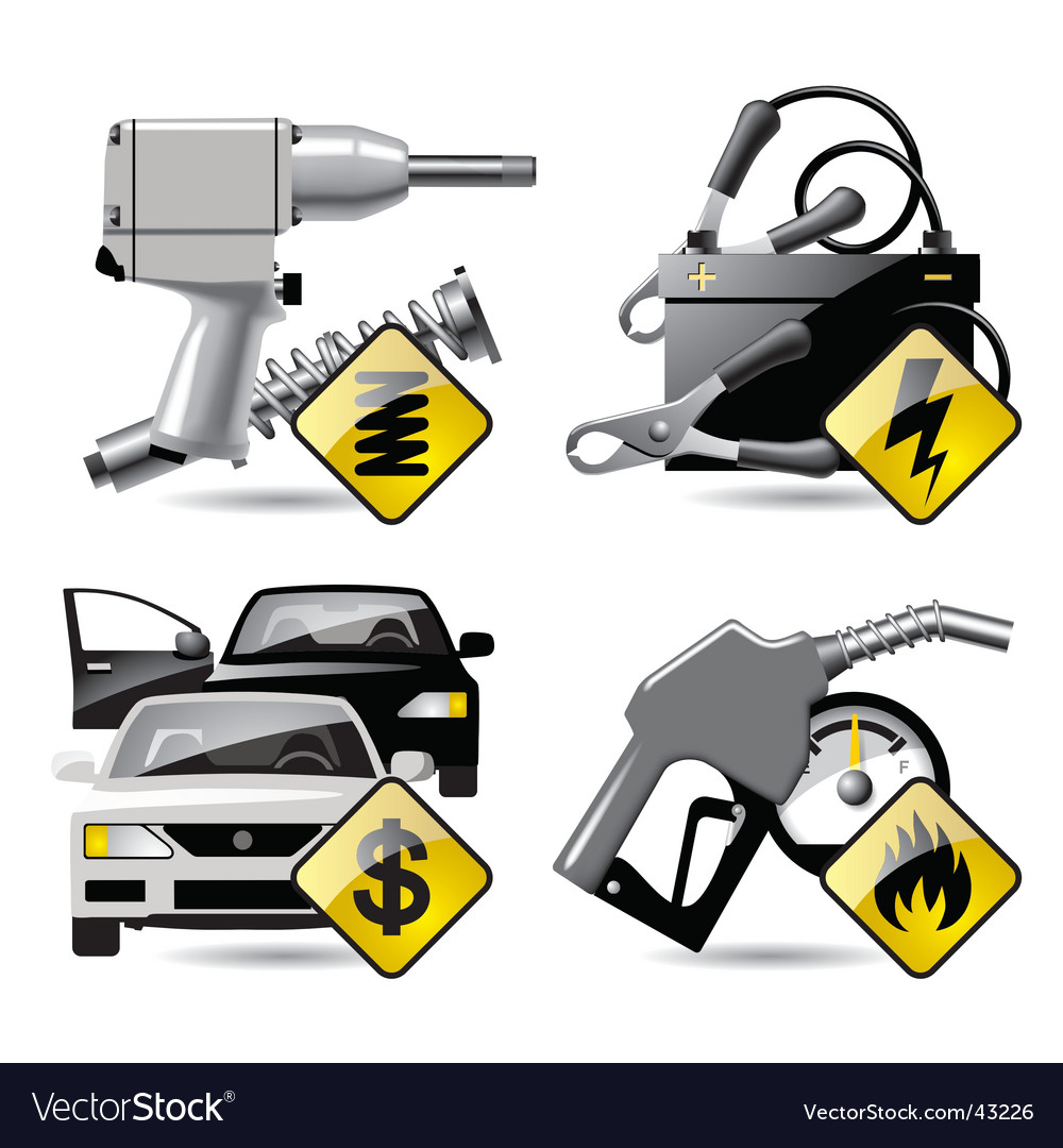 Automobile service icons vector | Price: 3 Credit (USD $3)