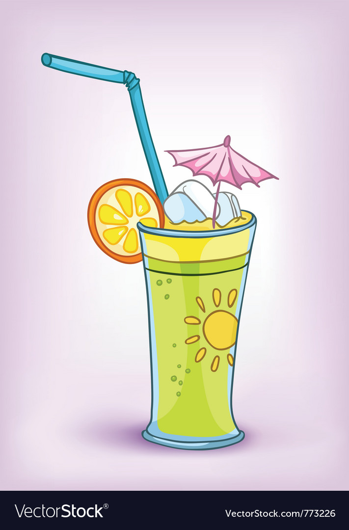 Cartoon food drink cocktail vector | Price: 1 Credit (USD $1)