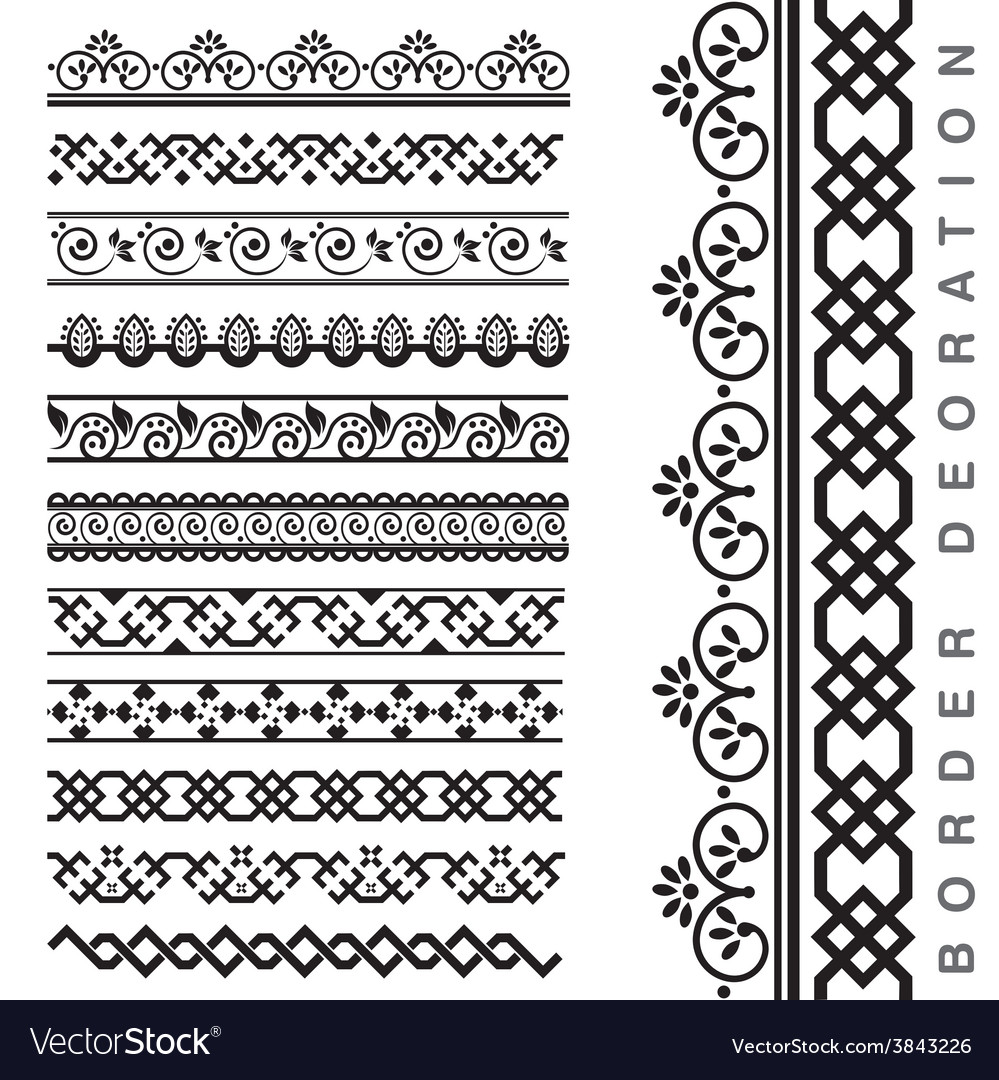 Seamless decorative borders vector   Price: 1 Credit (USD $1)