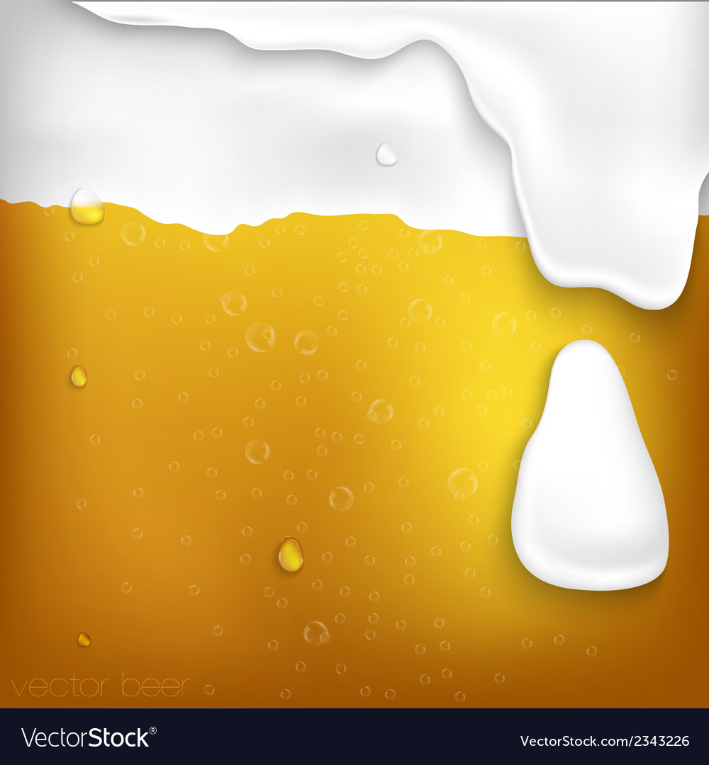 Texture of beer with foam vector | Price: 1 Credit (USD $1)