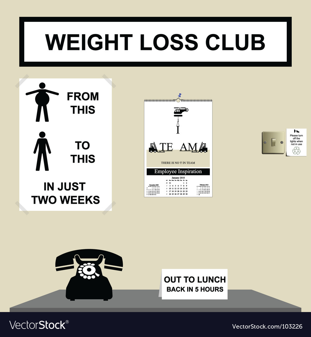Weight loss club vector | Price: 1 Credit (USD $1)
