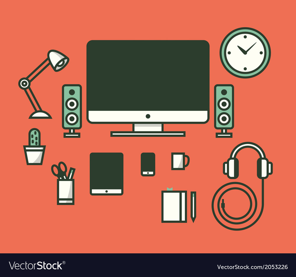 Workspace vector | Price: 1 Credit (USD $1)