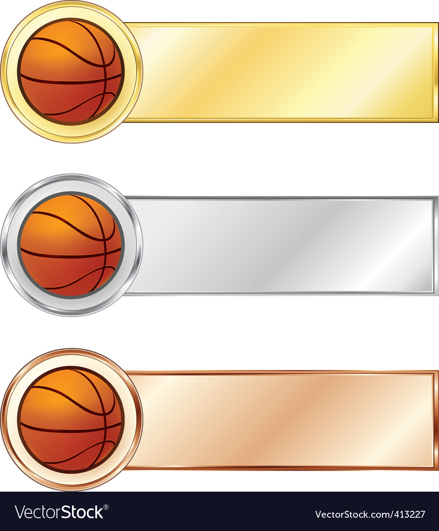 Basketball medals vector | Price: 1 Credit (USD $1)