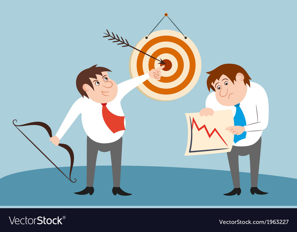 Businessman characters winner and loser concept vector   Price: 1 Credit (USD $1)