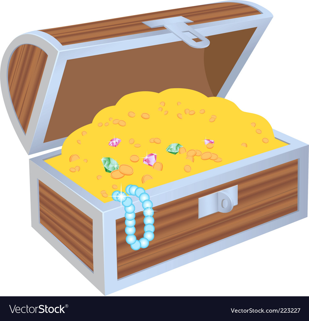 Chest of treasures vector