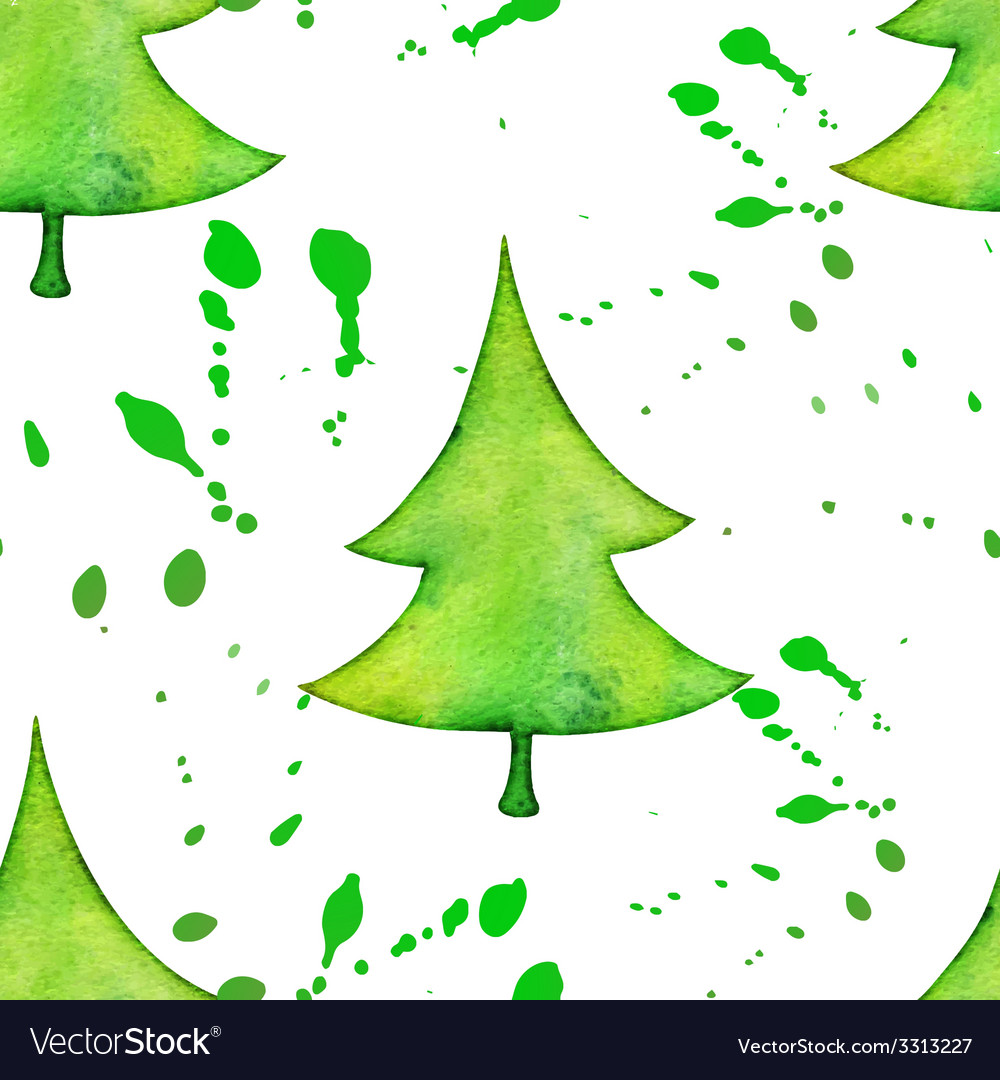 Christmas tree in watercolor trending style vector | Price: 1 Credit (USD $1)