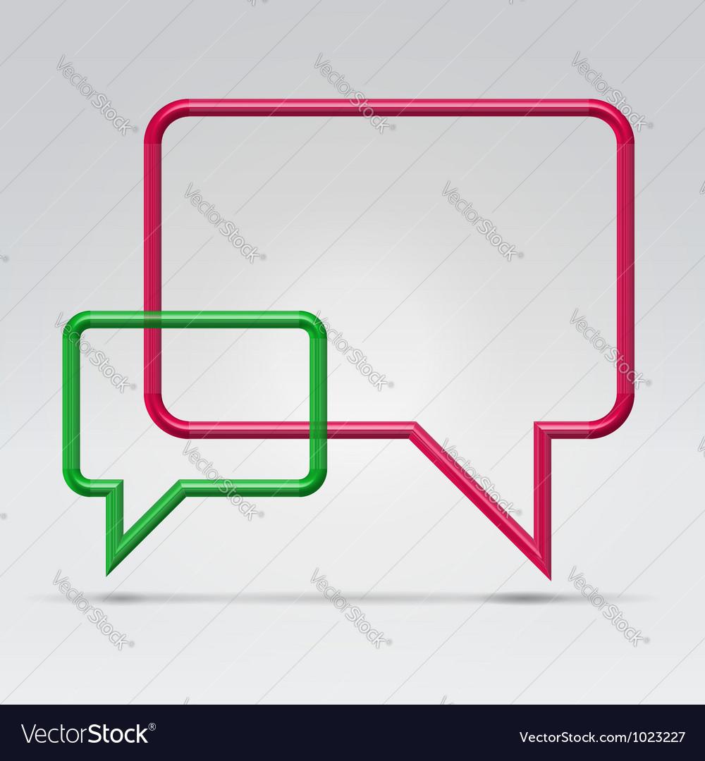 Couple square communication bubbles vector | Price:  Credit (USD $)