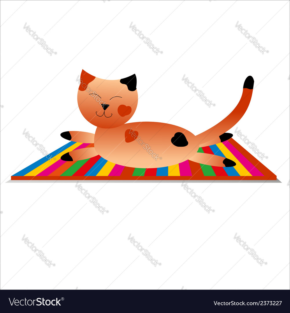 Happy cat has a rest vector | Price: 1 Credit (USD $1)