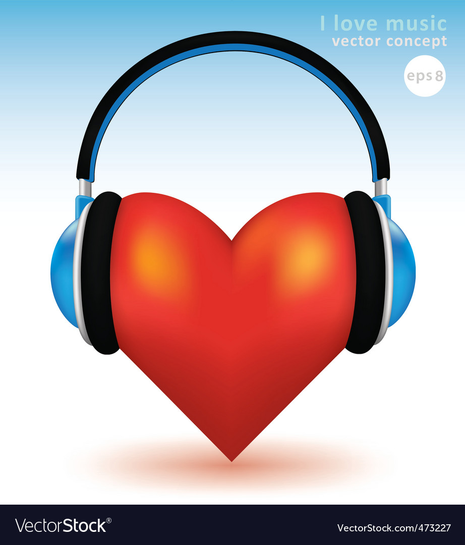 I love music vector | Price: 1 Credit (USD $1)