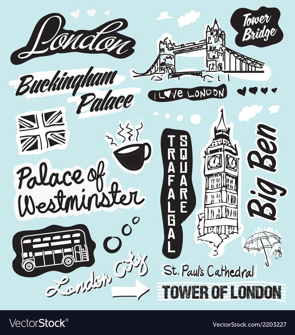 London landmarks vector | Price: 1 Credit (USD $1)