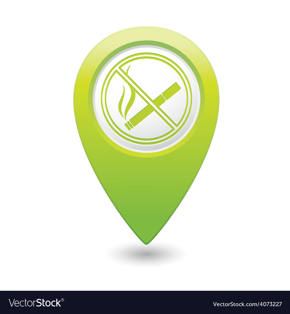 Nosmoking green map pointer vector | Price: 1 Credit (USD $1)