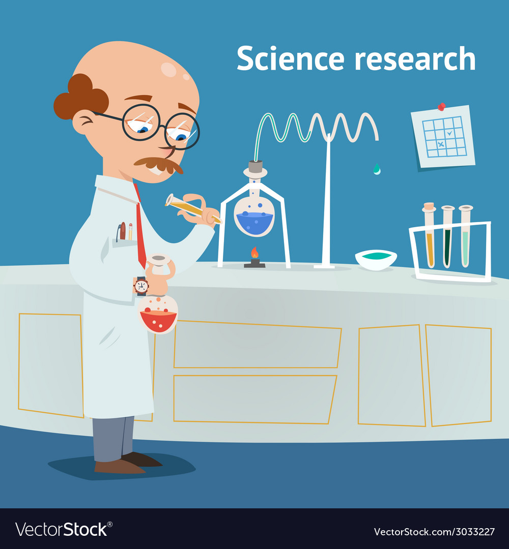 Scientist doing research in a laboratory vector | Price: 1 Credit (USD $1)