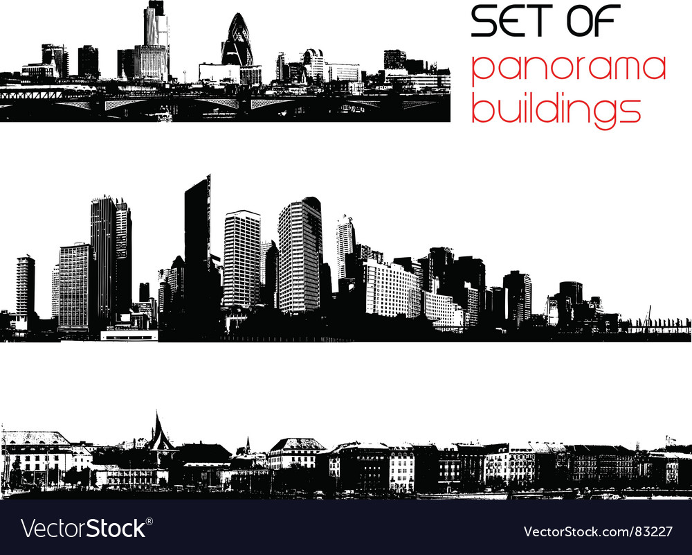 Set of cities vector | Price: 1 Credit (USD $1)