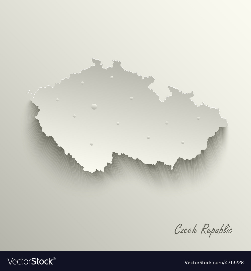 Abstract map czech republic template vector | Price: 1 Credit (USD $1)