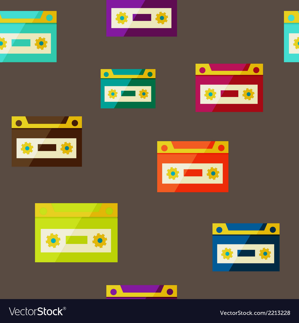 Audiocassette seampless background vector | Price: 1 Credit (USD $1)