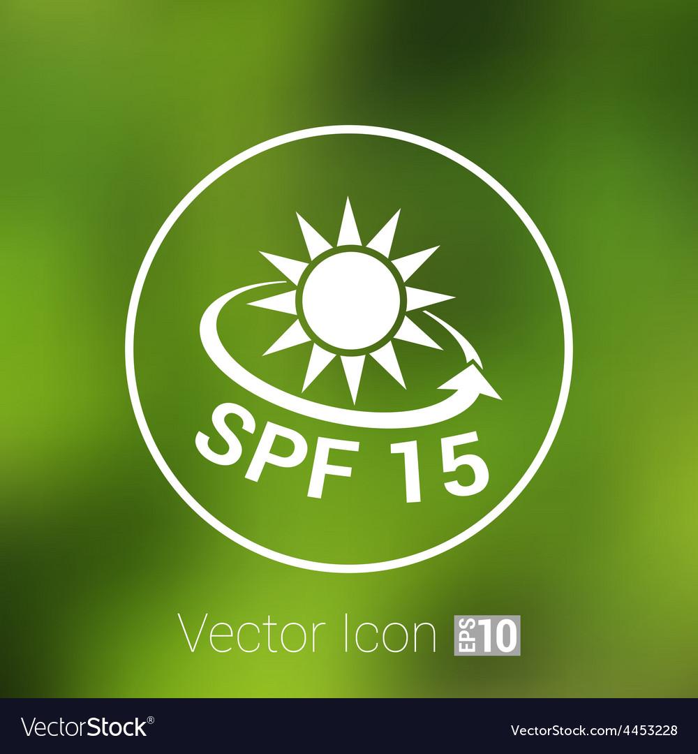 Black and silver metallic spf 15 shield sticker vector | Price: 1 Credit (USD $1)