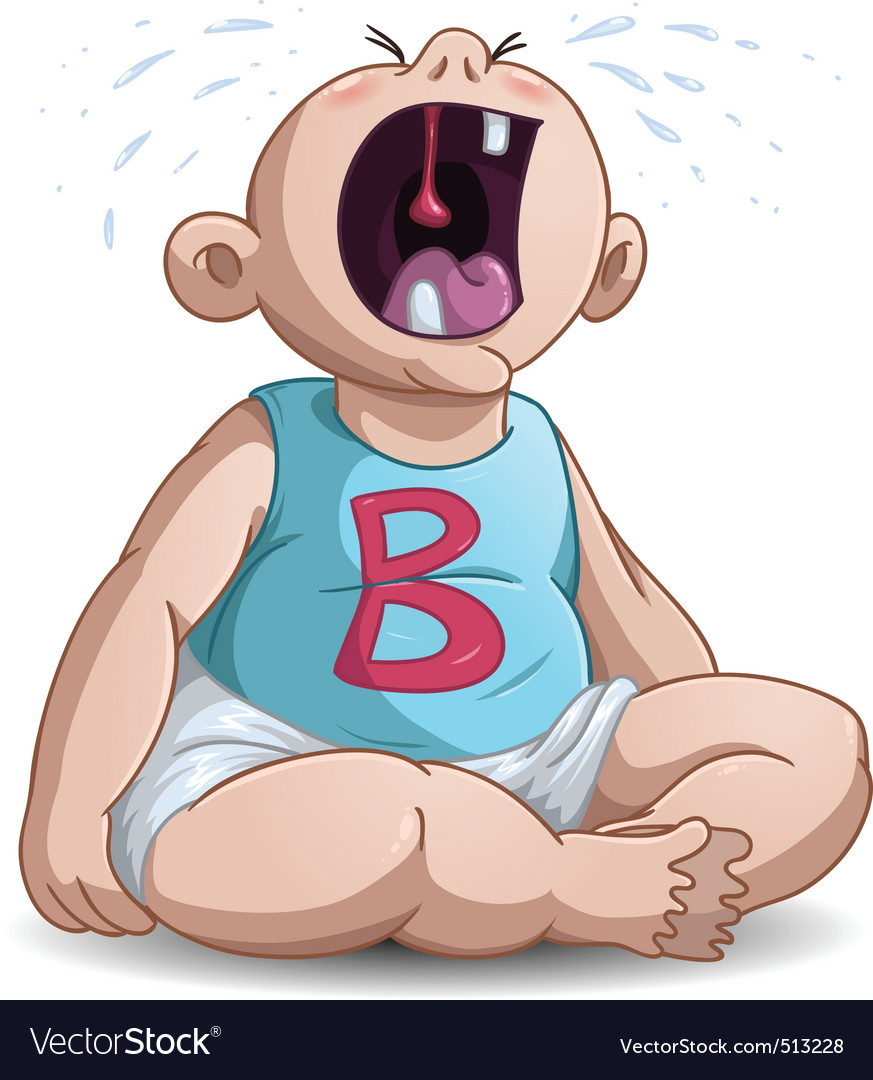 Crying baby vector | Price: 3 Credit (USD $3)