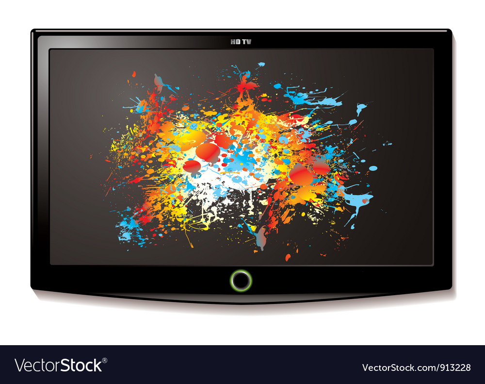 Lcd tv splat screen vector | Price: 1 Credit (USD $1)