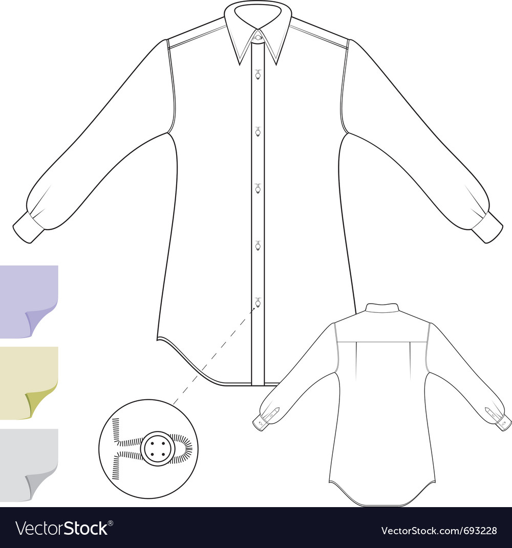 Long sleeves shirt vector | Price: 1 Credit (USD $1)