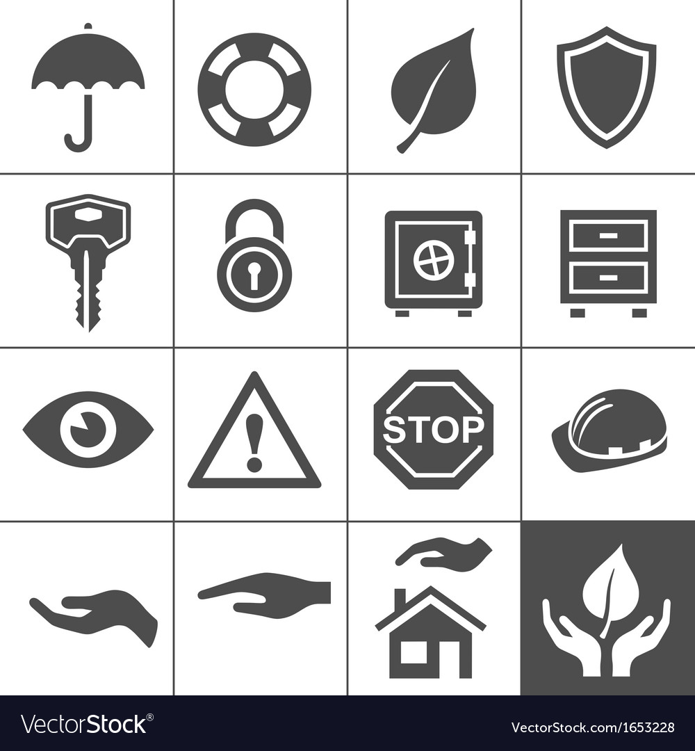 Protection icons simplus series vector | Price: 1 Credit (USD $1)