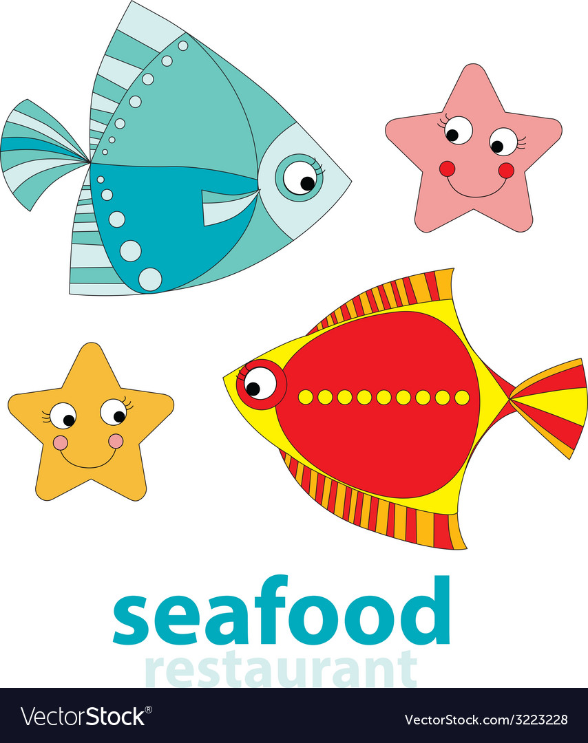 Seafood restaurant vector | Price: 1 Credit (USD $1)