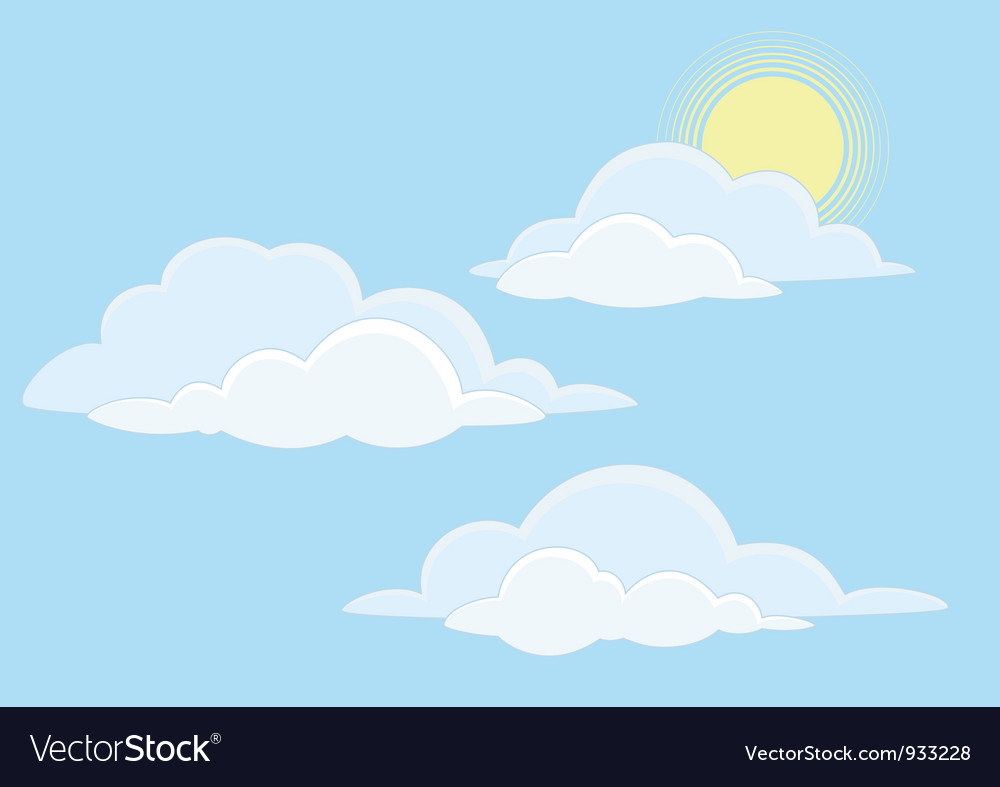 Sky with clouds vector | Price: 1 Credit (USD $1)
