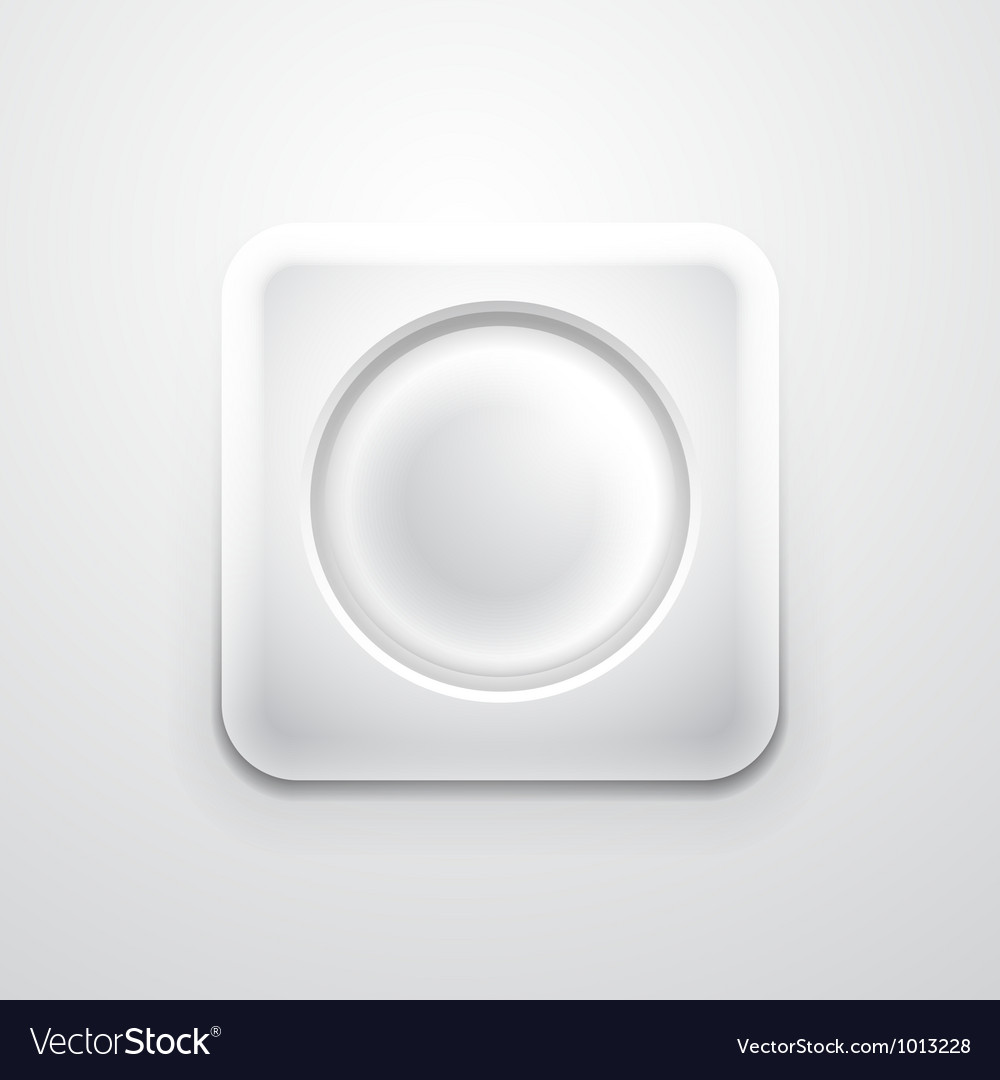 White mobile app icon with empty circle vector | Price: 1 Credit (USD $1)