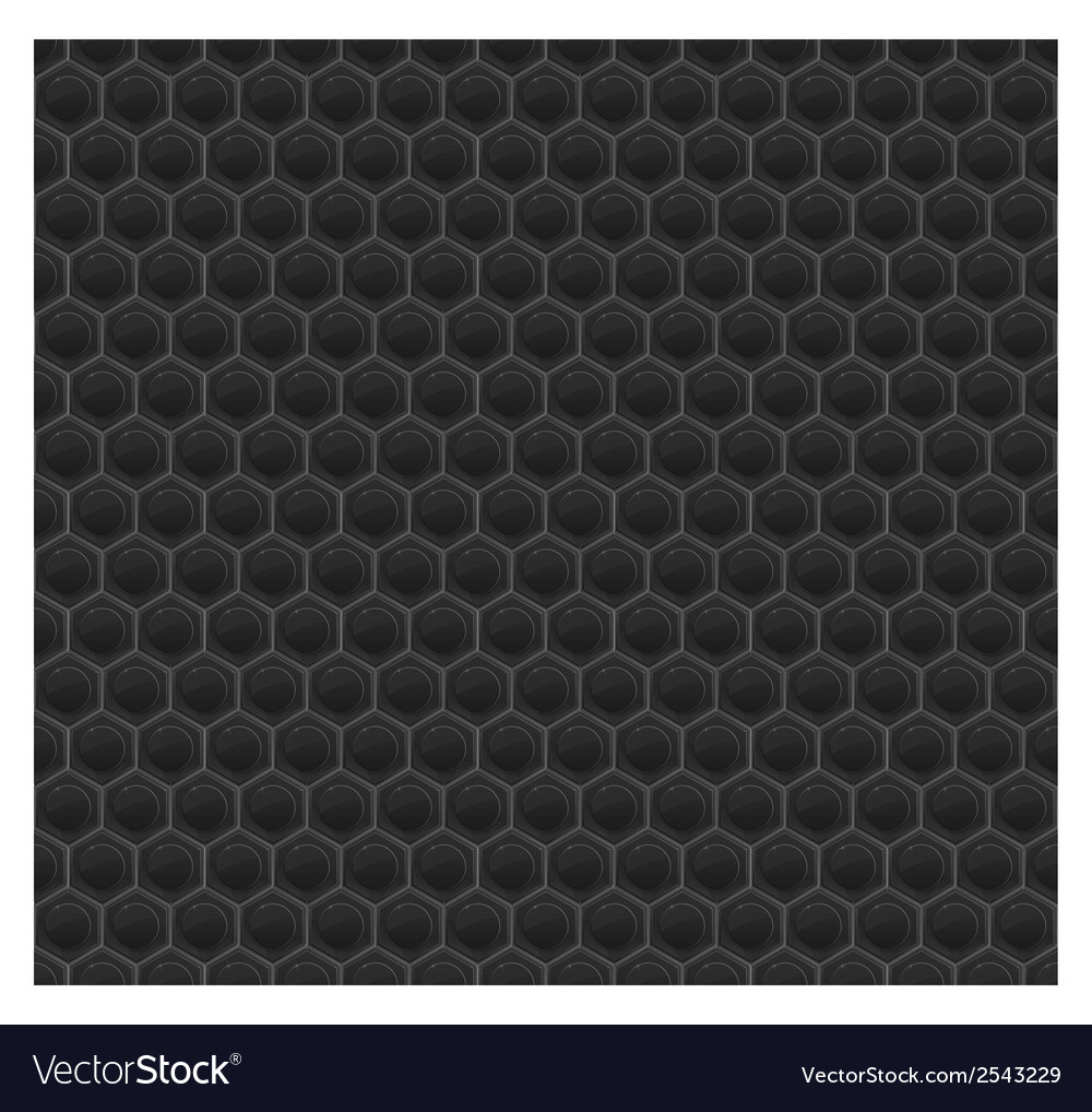 Black pattern hexagon mosaic vector | Price: 1 Credit (USD $1)