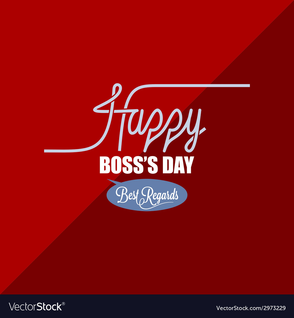 Boss day vintage background vector | Price: 1 Credit (USD $1)