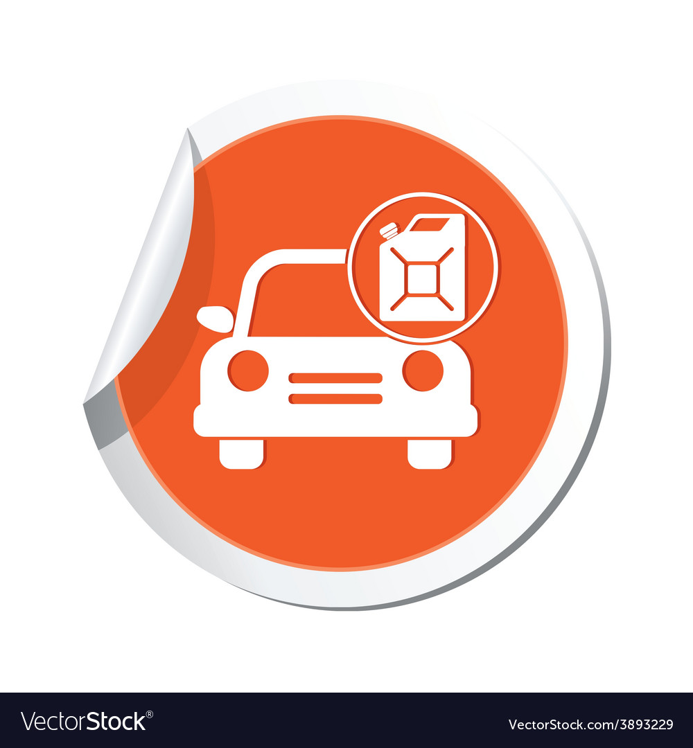 Cars canister orange label vector   Price: 1 Credit (USD $1)