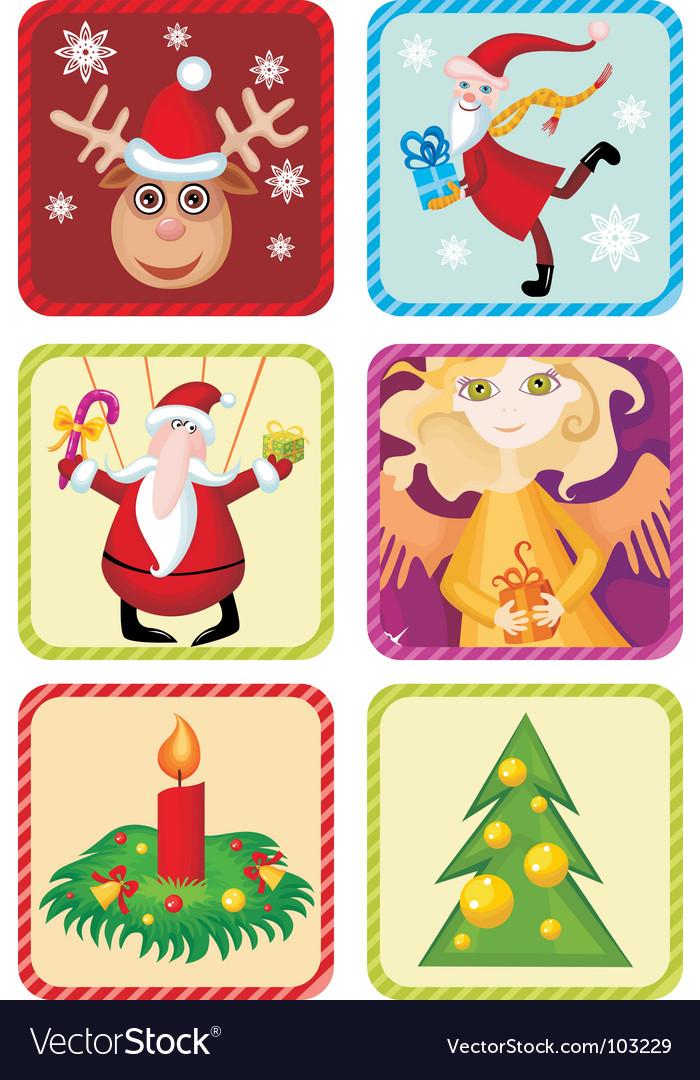 Christmas icon set vector | Price: 3 Credit (USD $3)