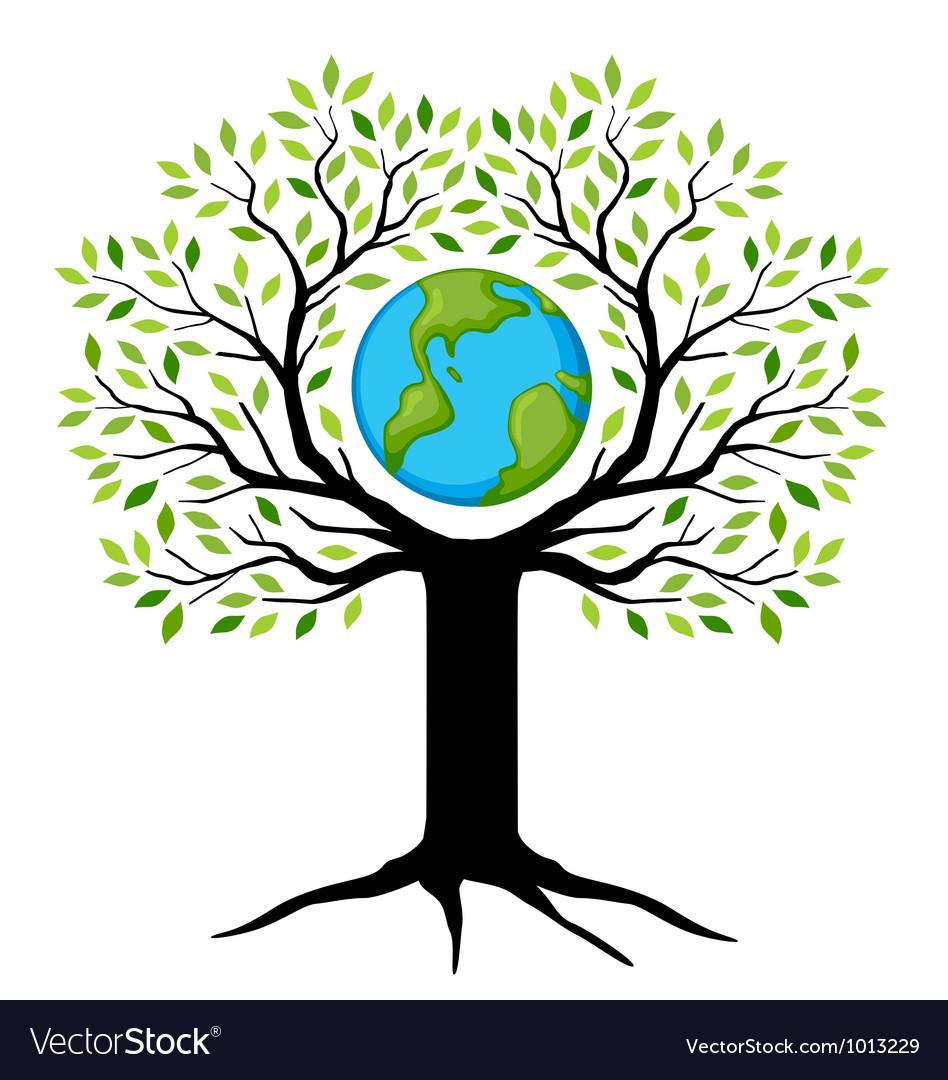 Earth tree vector | Price: 3 Credit (USD $3)