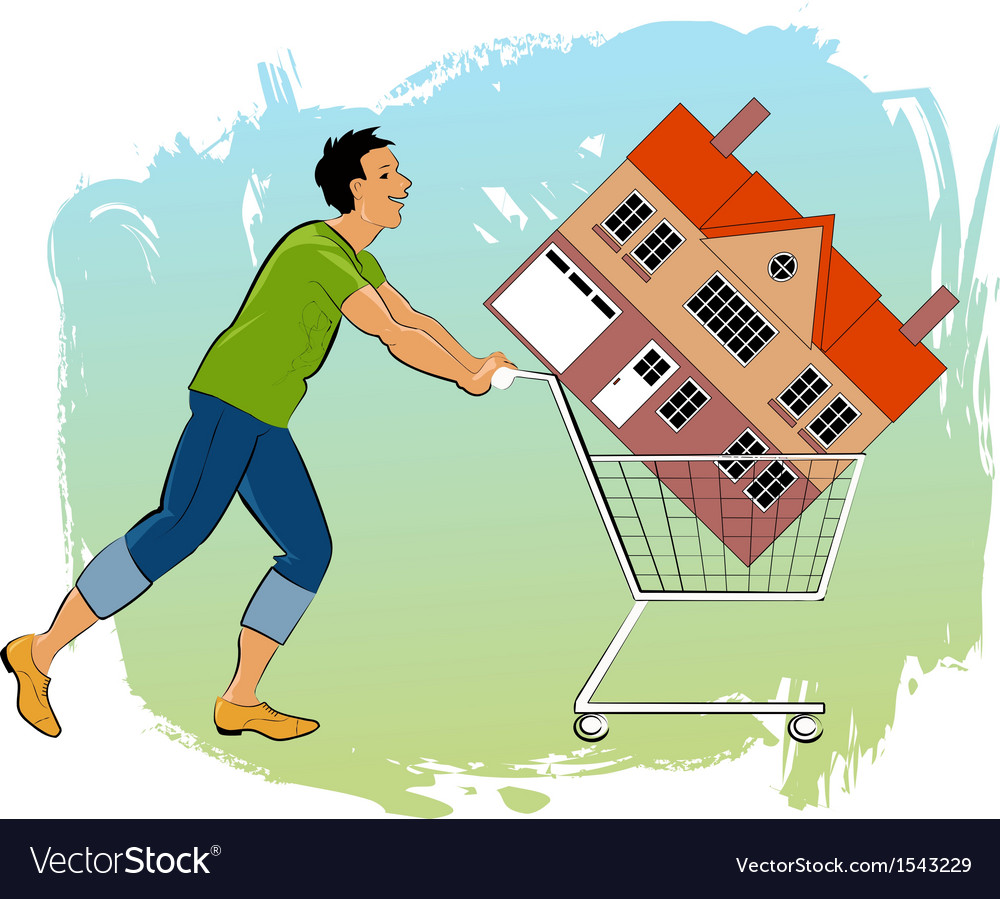 First time homeowner vector | Price: 3 Credit (USD $3)