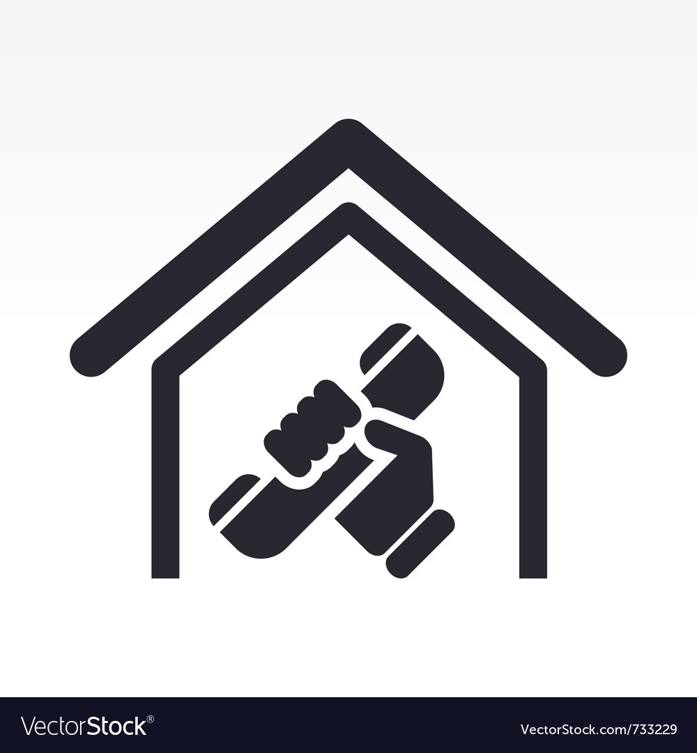 House phone icon vector | Price: 1 Credit (USD $1)