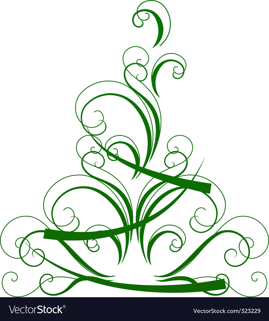 Stylized christmas tree isolated vector | Price: 1 Credit (USD $1)