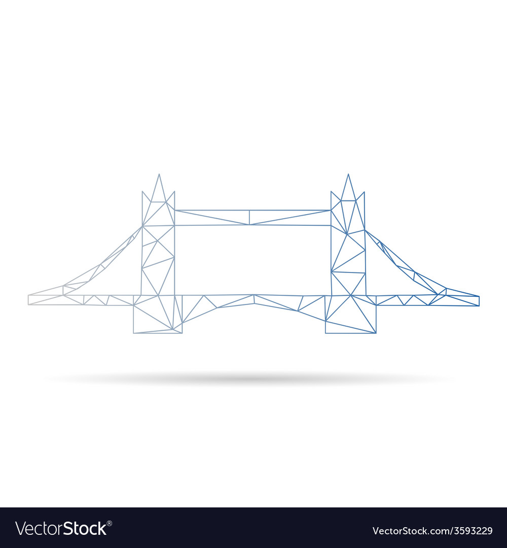 Tower bridge abstract isolated vector | Price: 1 Credit (USD $1)